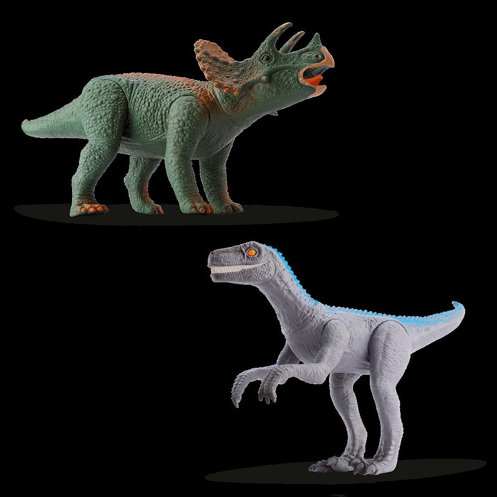 Triceratops e Velociraptor