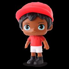 Max Futebol Vermelho E Branco Negro